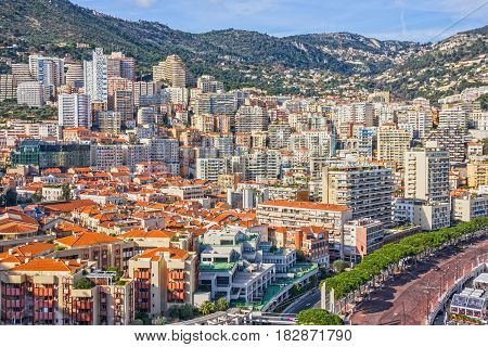 Monaco and Monte Carlo principality city view.