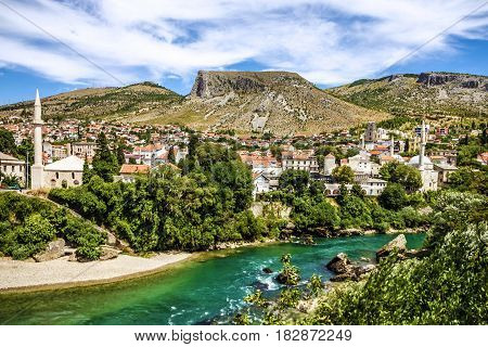 Bosnia and Herzegovina, Mostar old town landscape