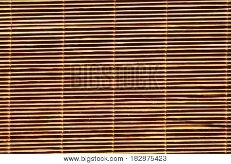 close up of bamboo curtain background and texture