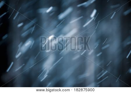 seasonal Winter abstract background blur snow blizzard