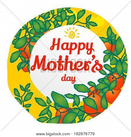 Happy Mothers Day. Vector Design Element