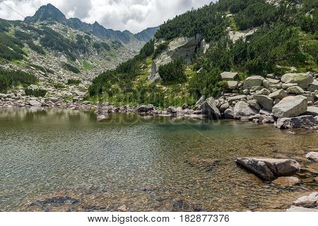 Amazing Landscape with Rocky peaks and Upper  Muratovo lake, Pirin Mountain, Bulgaria