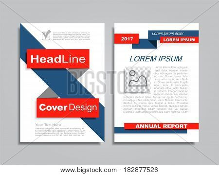 Design brochure layout with place for your data. Vector illustration.