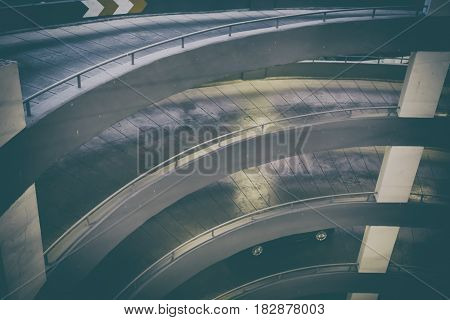 Circular Ramp In Parking Garage