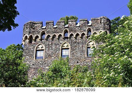Burg Rheinstein in Germany on a clear day