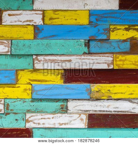 Abstract grunge old color wood texture background close up
