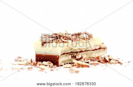 Wafle Chocolate Bar Covered With Black And White Chocolate