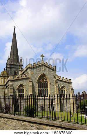 Exterior view of St. Columb's Cathedral Londonderry Ireland.