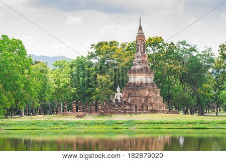 Old pagoda at Sukhothai Historical Park Thailand