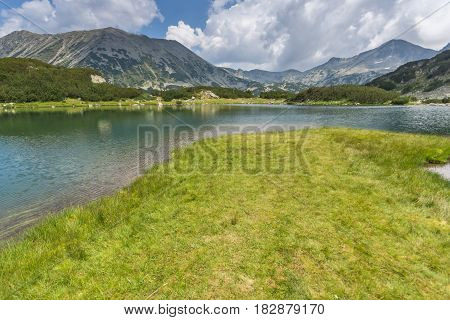 bulgaria, bansko, Pirin, Pirin Mountain, mountain, landscape, rocks, clouds,Europe, Recreation, Tourism, Water, Nature, Trail, Route, outdoor,green, travel, view, destination, sunny, scenery, grass, sun, mountaineering, background, europe, summer, hill, s