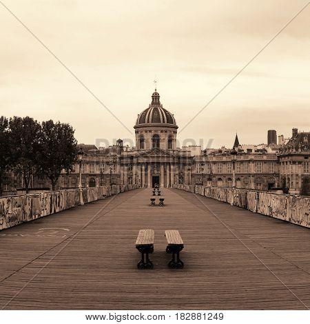 Pont des Arts over River Seine in Paris.
