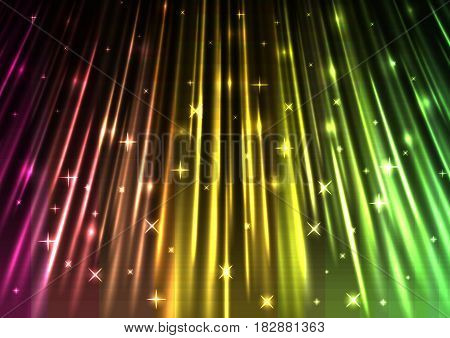 light falling template, speed laser from above, technology background, glowing line abstract background, vector illustration