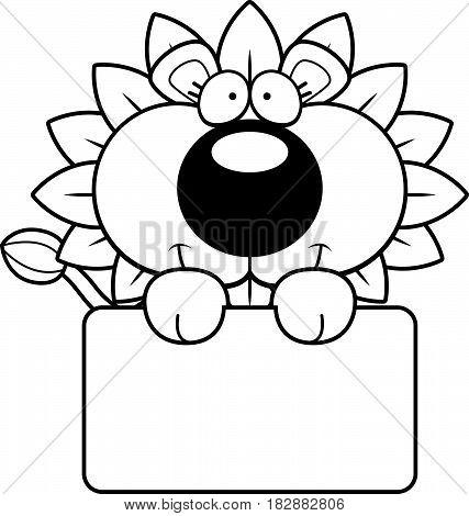 Cartoon Dandelion Lion Sign