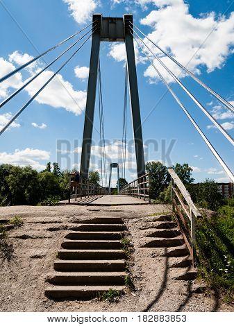 Abandoned Ruins Of Old Rock Bridge