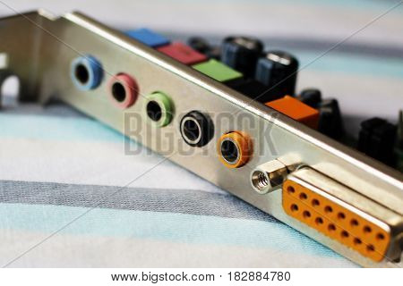 Computer part input for plug electronic board USB