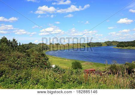 Volkhov River near Staraya Ladoga. Leningrad Oblast in Russia