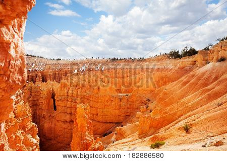 Giant natural amphitheaters of Bryce Canyon National Park in Utah, USA