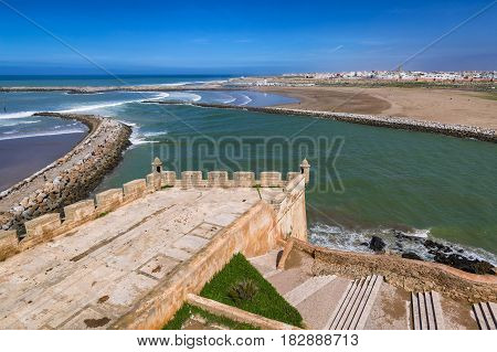 View From The Medina Fortress In Rabat, Morocco