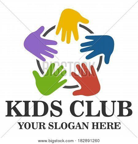 Kids club logo design template eps 10