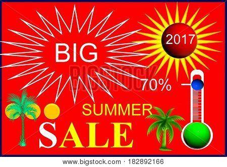 Big summer sale. Soon summer - soon sale.