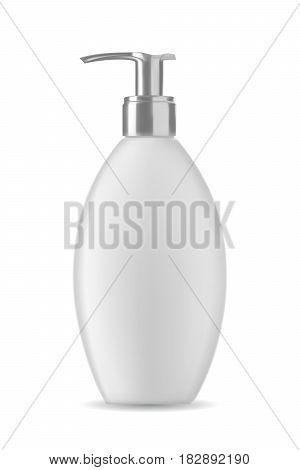 Isolated soap bottle on white background. 3D illustration.