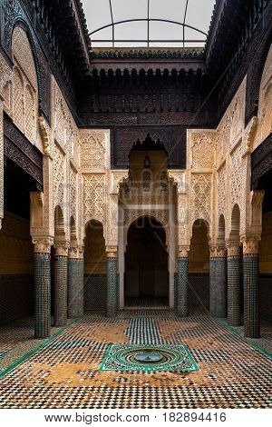Madrasa Marinid Of Salé, Rabat-sale, Morocco