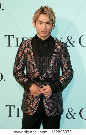 BROOKLYN, NY-APR 21: DJ Naoto Inti Raymi attends the Tiffany & Co. 2017 Blue Book Collection Gala at St. Ann's Warehouse on April 21, 2017 in Brooklyn, New York.