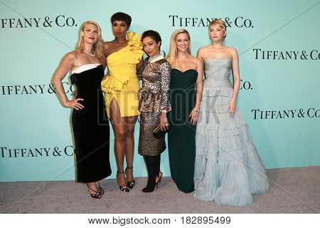 BROOKLYN, NY-APR 21: (L-R) Claire Danes, Jennifer Hudson, Ruth Negga, Reese Witherspoon and Haley Bennett attend Tiffany's 2017 Blue Book Collection Gala on April 21, 2017 in Brooklyn, New York.