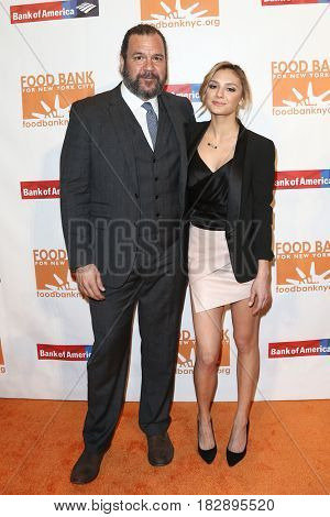 NEW YORK-APR 19: Actors Dwayne Hill (L) and Christine Evangelista attend the Food Bank for New York City's Can-Do Awards Dinner 2017 at Cipriani's on April 19, 2017 in New York City.
