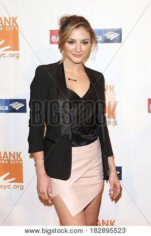 NEW YORK-APR 19: Actress Christine Evangelista attends the Food Bank for New York City's Can-Do Awards Dinner 2017 at Cipriani's on April 19, 2017 in New York City.