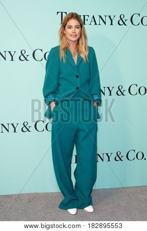 BROOKLYN, NY-APR 21: Model Doutzen Kroex attends the Tiffany & Co. 2017 Blue Book Collection Gala at St. Ann's Warehouse on April 21, 2017 in Brooklyn, New York.