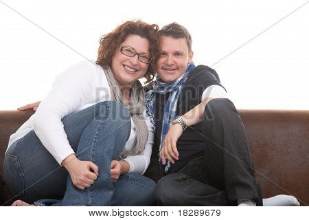 young couple close