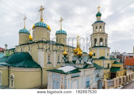 Kazan, Russia. Nikolaya Chudotvortsa Cathedral Nizskogo and Church of the Intercession of the Holy Virgin