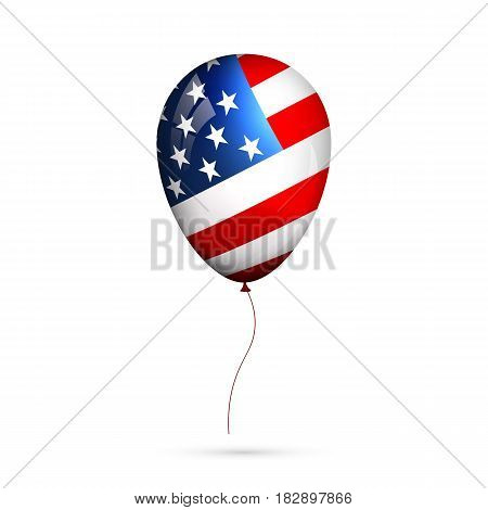 Balloon of USA flag. Holiday glossy balloon for Memorial Day, Independence Day, Patriot Day etc.