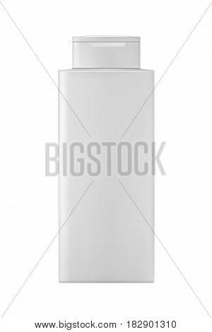 Isolated shampoo bottle on white background. 3D illustartion.