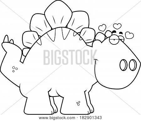 Cartoon Stegosaurus In Love