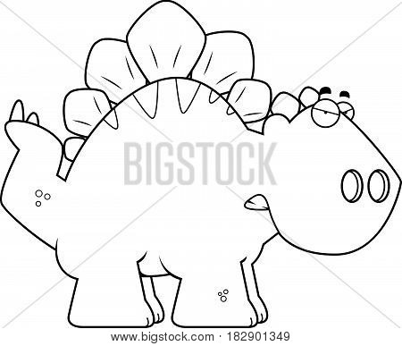 Angry Cartoon Stegosaurus