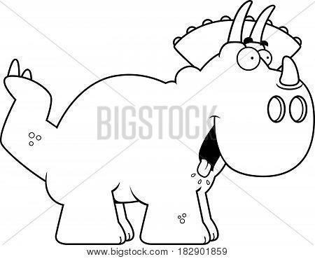 Hungry Cartoon Triceratops