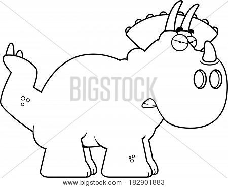 Angry Cartoon Triceratops