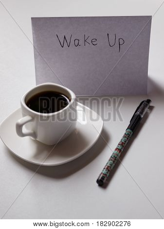 t is a morning coffee with plans for the day