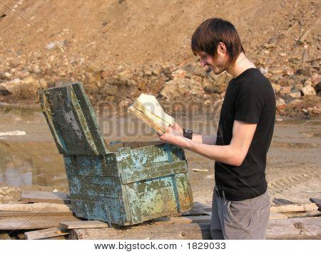 Man Find Old Book