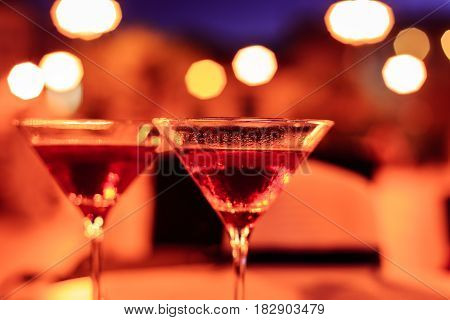 Martini Glass On A Table