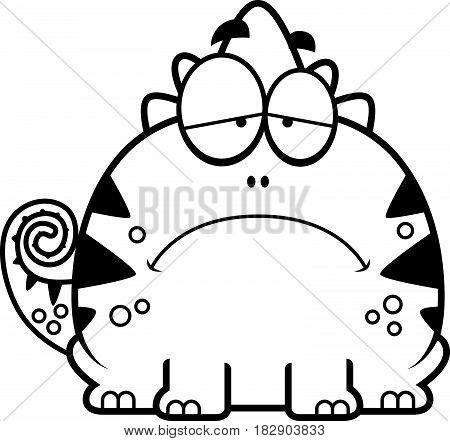 Depressed Little Lizard