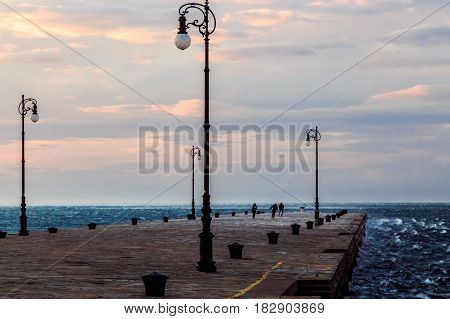 Windy Day In The City Of Trieste