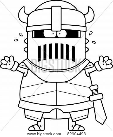 Scared Cartoon Black Knight