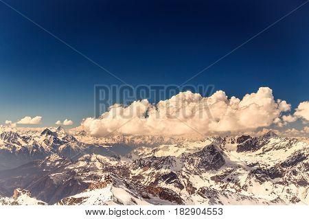 Sunny Day On The Ski Slopes Of Cervinia