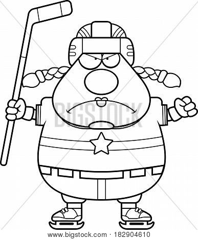 Angry Cartoon Hockey Player