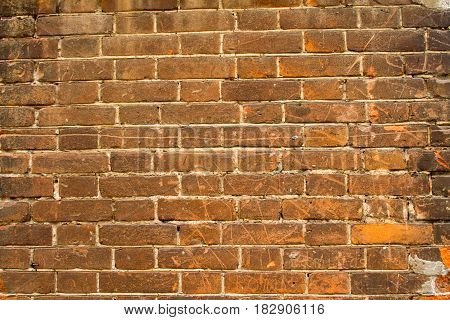 vintage background texture old masonry stone bricks on the ancient cement with cracks