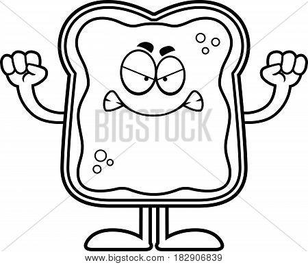 Angry Cartoon Toast With Jam
