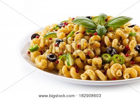 Pasta with colorful vegetalbes